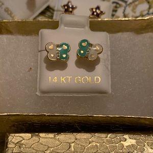 14k Gold Butterfly Earrings ✨🦋✨